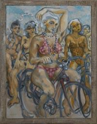 Mackenzie Gallery Features World Naked Bike Ride Paintings By Peregrine Roskilly